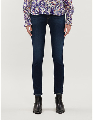 AG Jeans Ladies Dark Blue Mari High Rise Slim Fit Straight Jeans, Size: 24