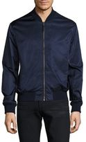 Vince Washed Satin Regular-Fit Bomber Jacket