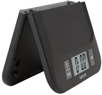 Taylor Plastic Digital Folding Kitchen Scale 5kg Black