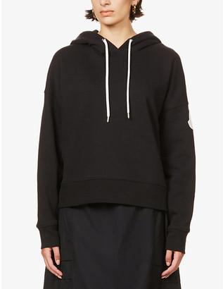 Moncler Maglia logo-print cotton-blend jersey hoody