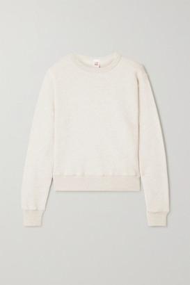 RE/DONE Melange Cotton-terry Sweatshirt - Beige