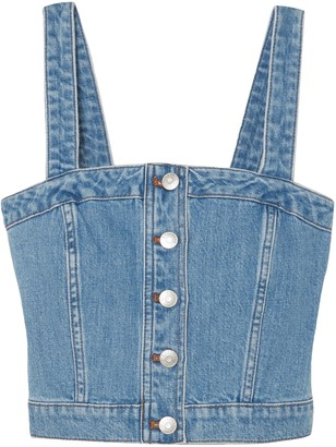 Madewell Cropped Denim Top