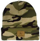 John Deere Leather Patch Beanie