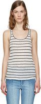Etoile Isabel Marant Ecru Striped Avien Tank Top