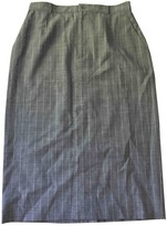 John Galliano Grey Wool Skirt for Women