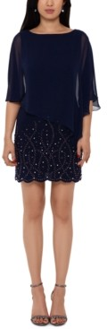 Xscape Evenings Embellished Overlay Shift Dress