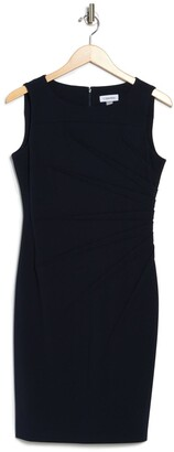 Calvin Klein Sleeveless Starburst Stitch Sheath Dress