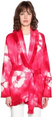 Alanui Tie Dye Wool Blend Knit Cardigan