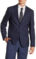 Simon Spurr Blue Check Two Button Notch Lapel Wool Sports Coat