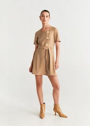 MANGO Detail button dress brown - 4 - Women