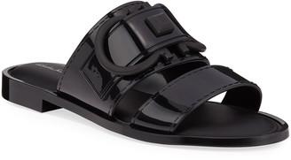Salvatore Ferragamo Taryn Jelly Logo Slide Sandals