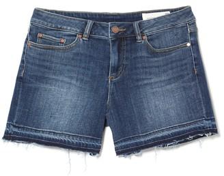 Vince Camuto Denim Frayed-hem Shorts