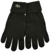Lacoste Merino Wool Ribbed Gloves Green
