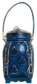 Dar Leone - Blue And White Geometric Basket 4