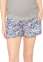 A Pea in the Pod Secret Fit Belly Soft Maternity Shorts- Floral