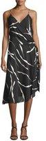 Diane von Furstenberg Brenndah Printed Surplice-Front Dress, Gesture Black