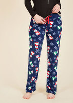 Plush and Pull Lounge Pants in Santa Bears in M