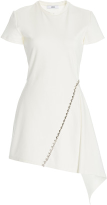 Area Crystal-Embellished Stretch-Crepe Handkerchief Dress