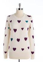 French Connection Long Sleeve Heart Sweater