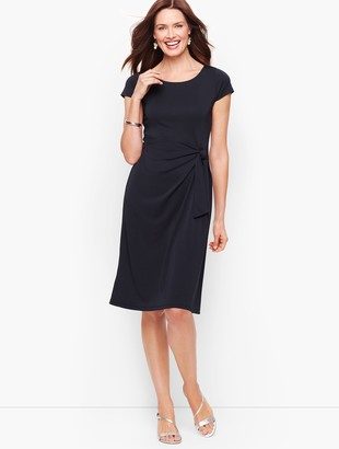 Talbots Faux-Wrap Jersey Shift Dress