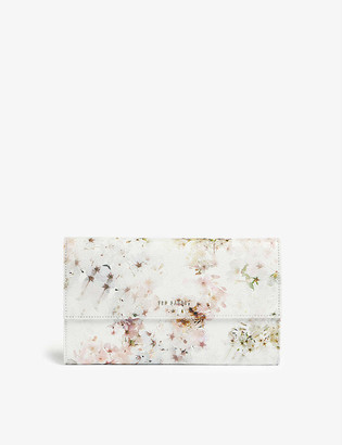 Ted Baker Toriii vanilla-print leather travel wallet