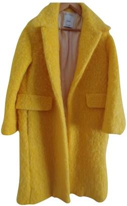MANGO Yellow Faux fur Coat for Women