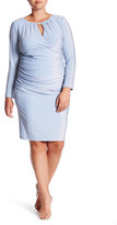 Marina Long Sleeve Sparkle Knit Dress (Plus Size)