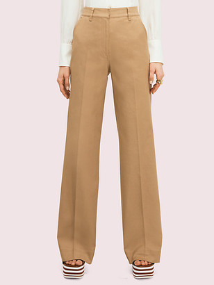 Kate Spade Solid Cotton Trouser