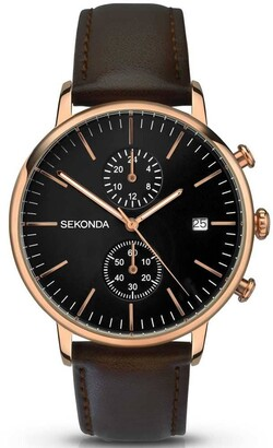 Sekonda Unisex-Adult Analogue Classic Quartz Watch with Leather Strap 1380.27