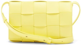 Bottega Veneta Cassette Small Intrecciato Leather Cross-body Bag - Yellow