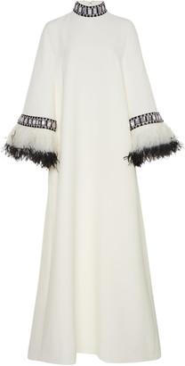Andrew Gn Embellished Crepe Caftan Dress
