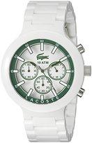 Lacoste Men's 2010757 Borneo White Chronograph Watch