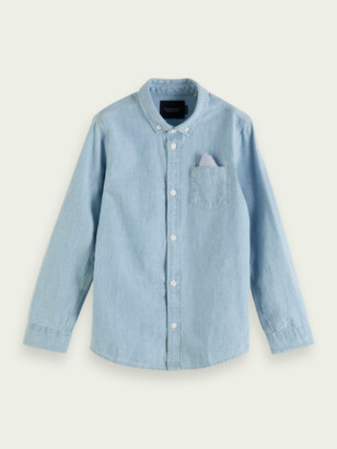 Scotch & Soda Regular fit cotton chambray shirt | Boys