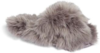 Rachel Parcell Faux Fur Slipper