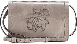 Patricia Nash Studded Distressed Lanza Leather Crossbody