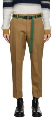 Solid Homme Beige Cotton Pants