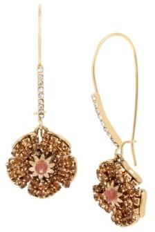 Miriam Haskell New York Flower Long Drop Earrings