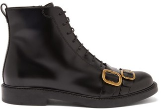 Tod's Double-buckle Leather Military Boots - Black