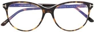 Tom Ford Tortoiseshell-Frame Glasses