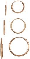 Candela 10K Gold Endless Hoop Earring Set
