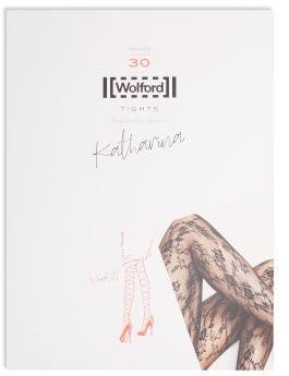 Wolford Katharina 30-denier Lace Tights - Womens - Black