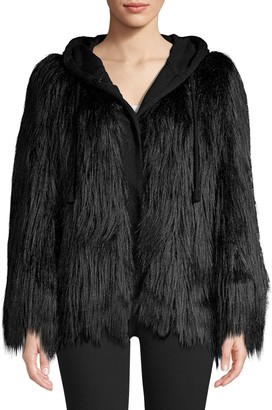 House Of Fluff Hooded Faux Fur Jacket