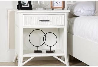David Francis Furniture Bermuda 1 Drawer Nightstand Color (Hardware): Black