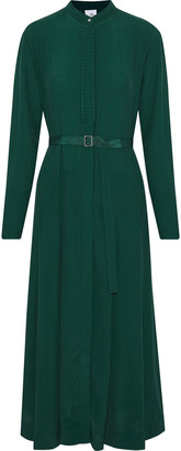 Iris & Ink Florence Ruffle-trimmed Crepe De Chine Midi Dress