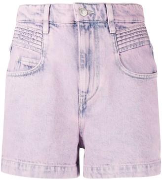 Etoile Isabel Marant Acid Wash Denim Shorts