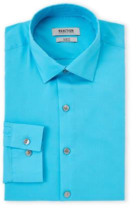 Kenneth Cole Reaction Blue Cloud Slim Fit Stretch Dress Shirt