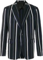 Versace single button striped blazer
