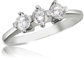 Forzieri 0.29 ct Three-Stone Diamond 18K Gold Ring