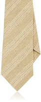 Isaia MEN'S STRIPED SILK-LINEN NECKTIE