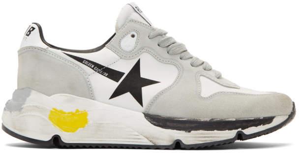 Golden Goose Grey Running Sole Sneakers